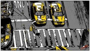 Tableau-peinture-New-York-Taxi